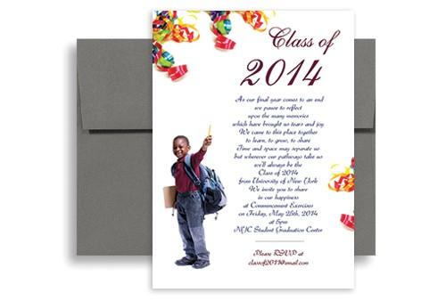5th Grade Graduation Invitations 2018 5th Grade Elementary Graduation Invitation Example