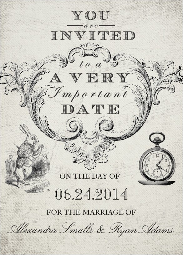 Alice In Wonderland Wedding Invitation Template Alice In Wonderland Invitation Template Free Templates