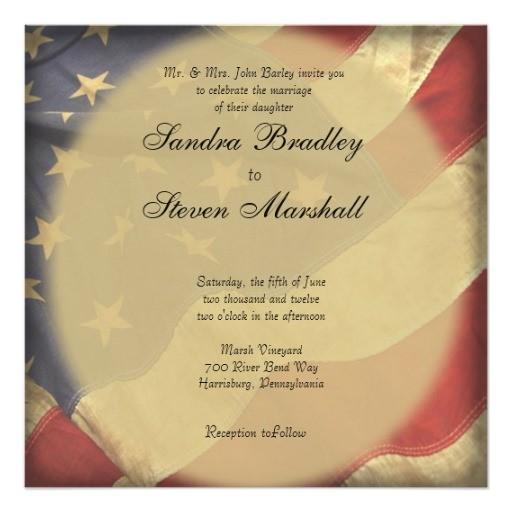 American Flag Wedding Invitations American Flag Wedding Invitations Zazzle