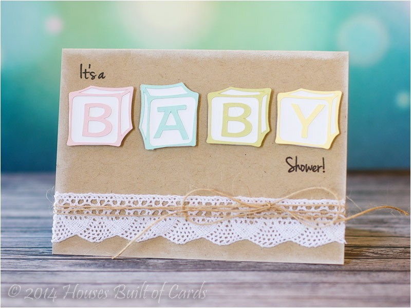 Baby Block Shower Invitations Houses Built Of Cards Baby Block Shower Invitations