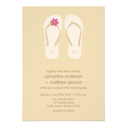 Flip Flop Wedding Invitations Personalized Flip Flops Invitations Custominvitations4u Com