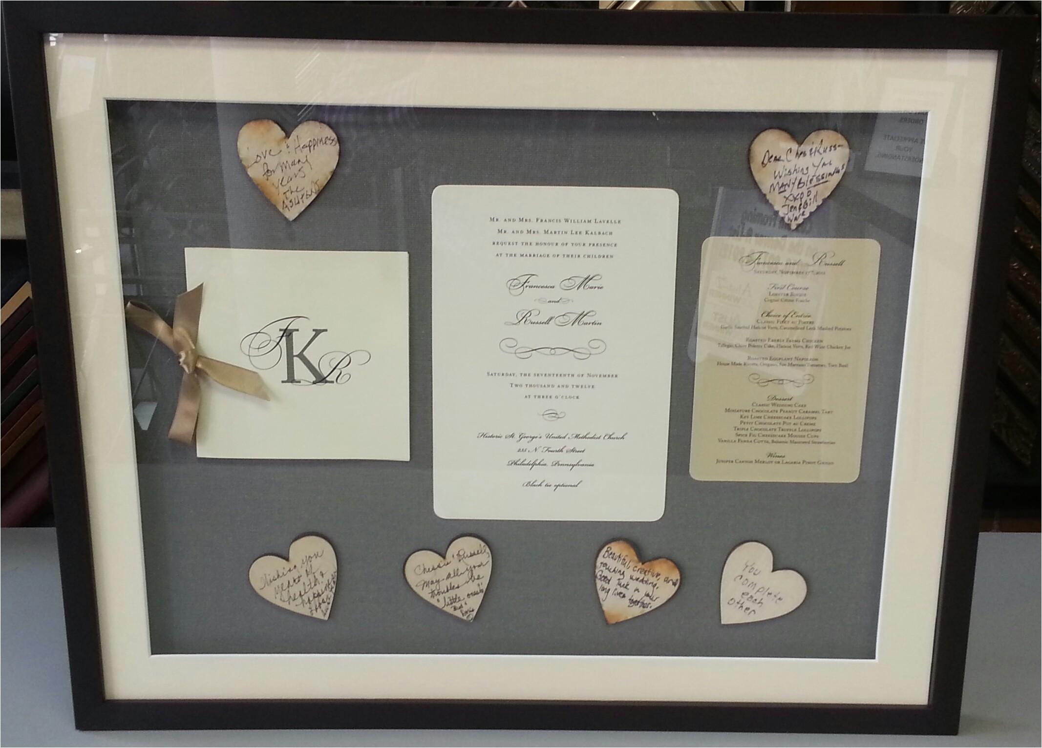 Framing Wedding Invitation Wedding Invitations Framing Fastframe Of Lodo Denver