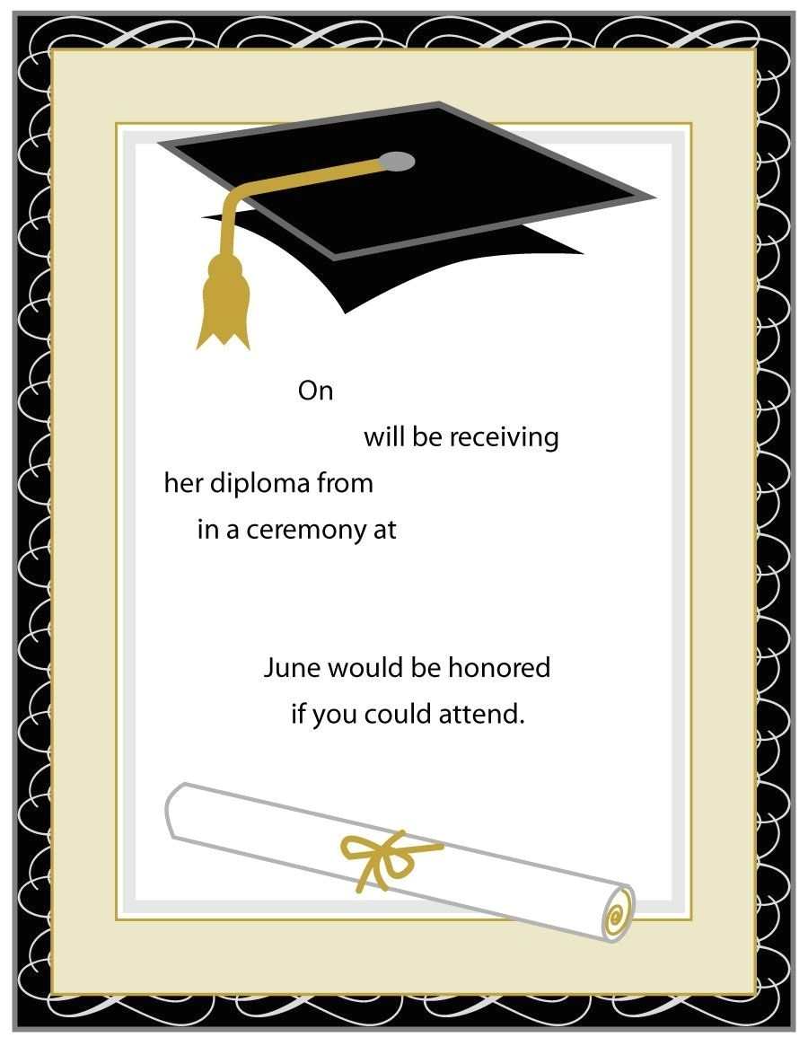 Free Printable Graduation Invitations 2018 Printable Graduation Party Invitations
