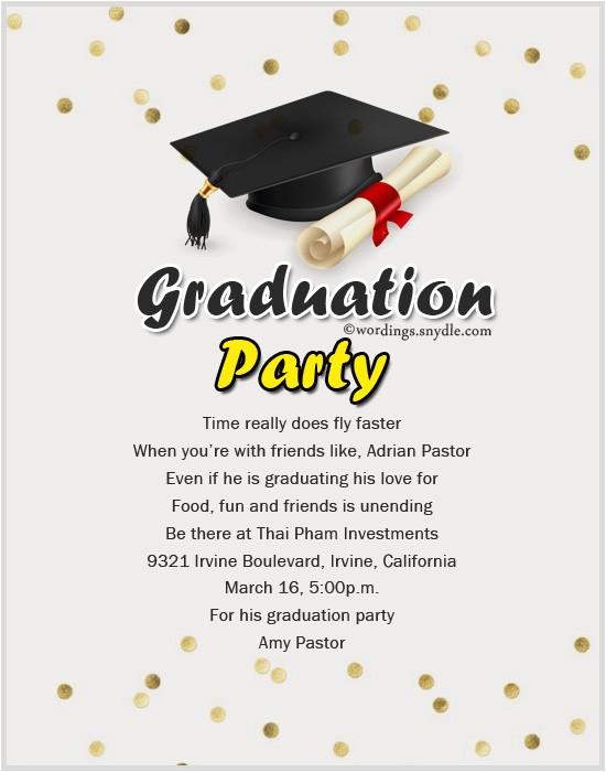 Graduation Party Invitation Sayings Graduation Party Invitation Wording Wordings and Messages