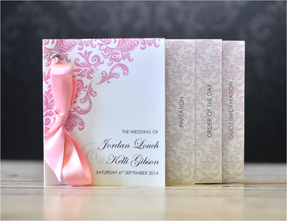 Minibook Wedding Invitations Mini Book Wedding Invitation Damask