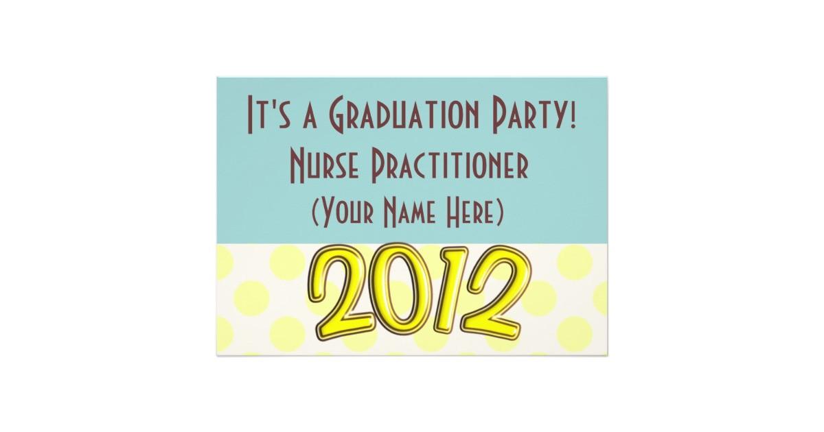 Nurse Practitioner Graduation Invitations Nurse Practitioner Graduation Party Invitations Zazzle