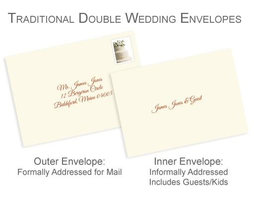Outer Envelopes for Wedding Invitations Properly Address Pocket Invitations without Inner Envelopes