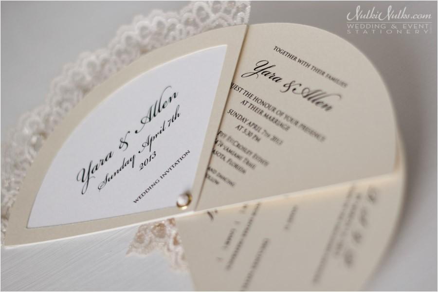 Parts Of Wedding Invitation Wedding Invitation Fans Real Weddings Stationery by