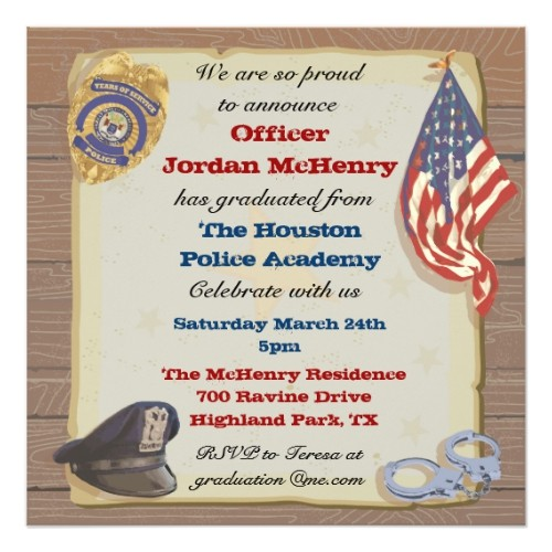Police Academy Graduation Invitation Wording Popular 25 Police Retirement Invitations Popular Invitation