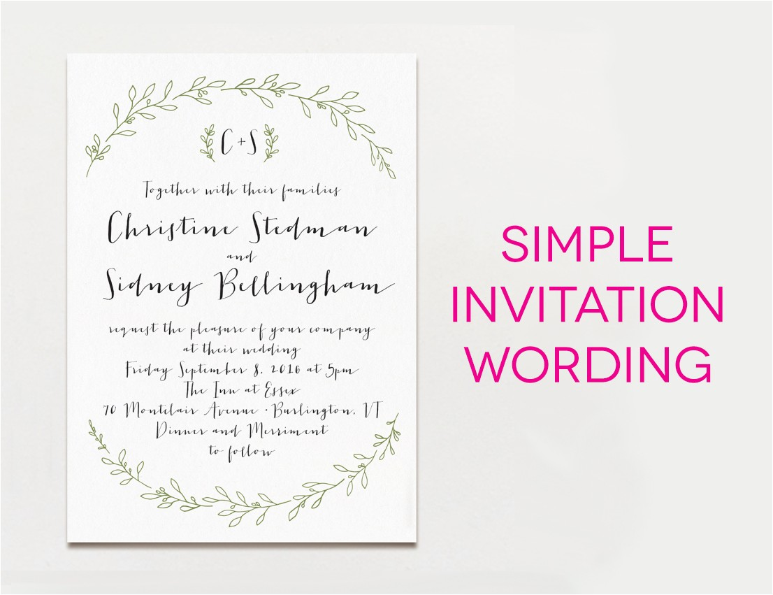 Sample Wedding Invitation Wording 15 Wedding Invitation Wording Samples From Traditional to Fun