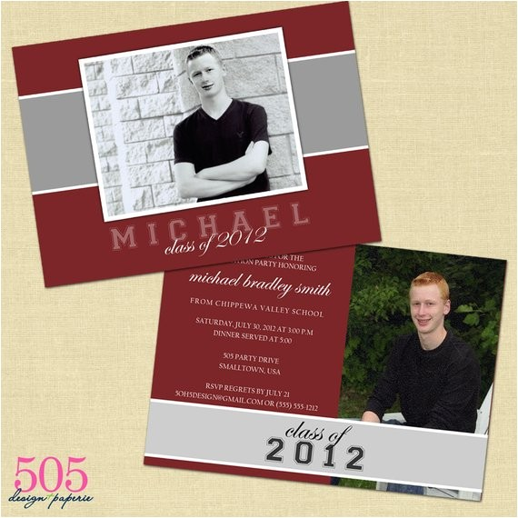 Two Sided Graduation Party Invitations Items Similar to Double Sided Graduation Party Invitation
