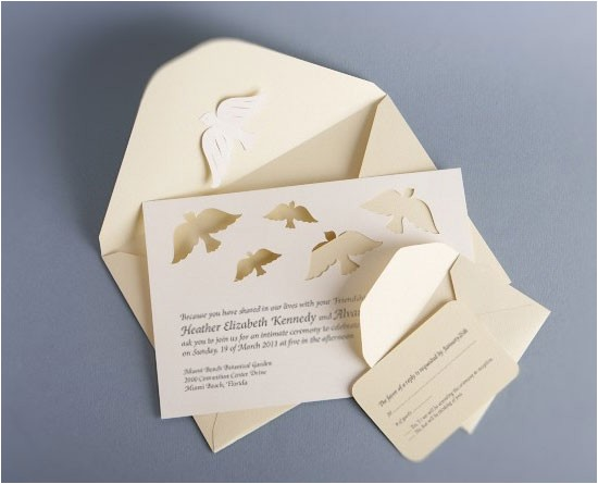 Wedding Invitations with Doves Papercut Dove Wedding Invitations Invitation Crush