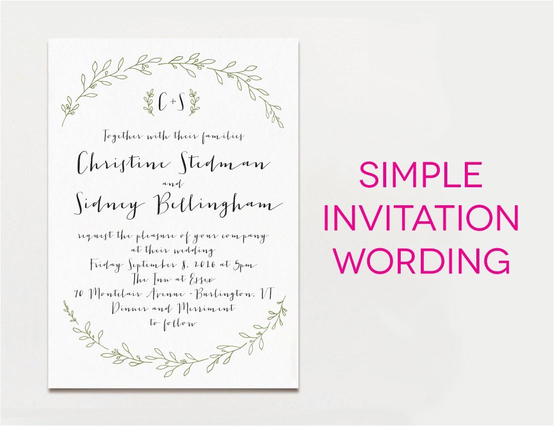 Wedding Invite Language 15 Wedding Invitation Wording Samples From Traditional to Fun