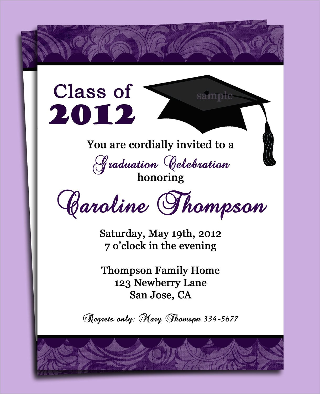 Www Graduation Invitations Graduation Party or Announcement Invitation Printable or