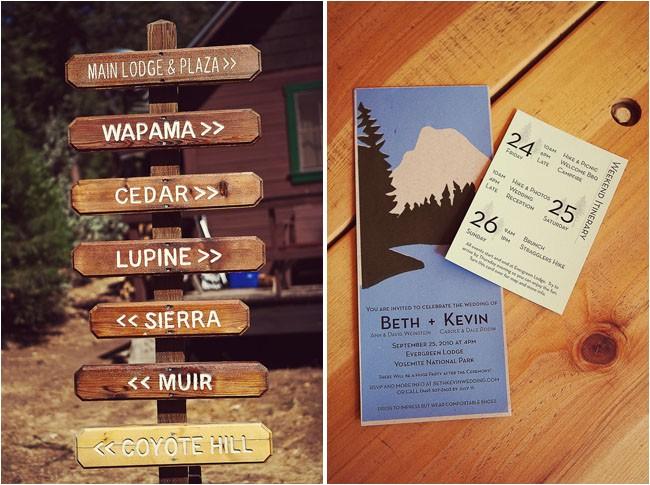 Yosemite Wedding Invitations A Yosemite Wedding Beth Kevin Green Wedding Shoes