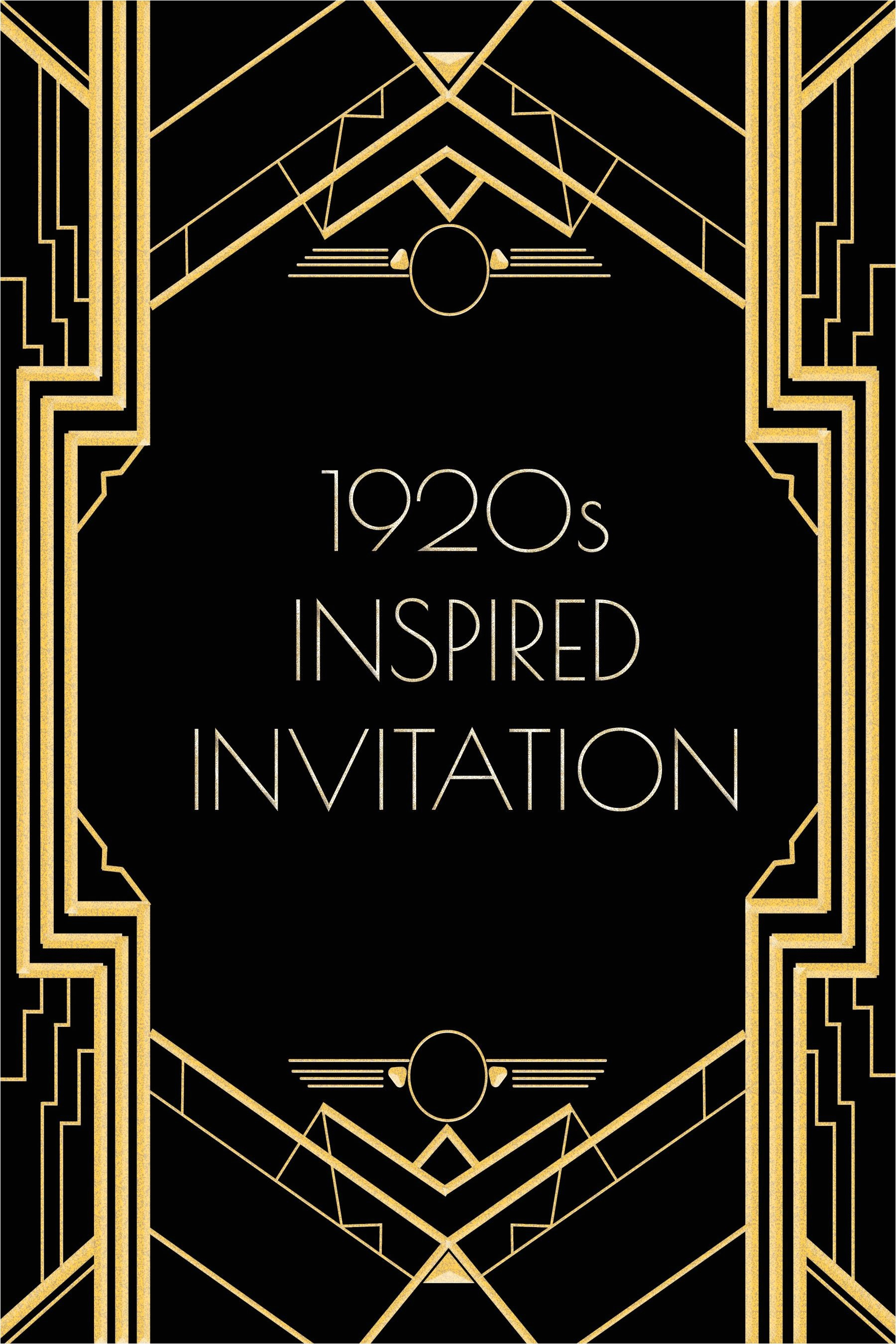 1920s Party Invitation Template Free Use This 1920s Inspired Invitation Template for A Gatsby