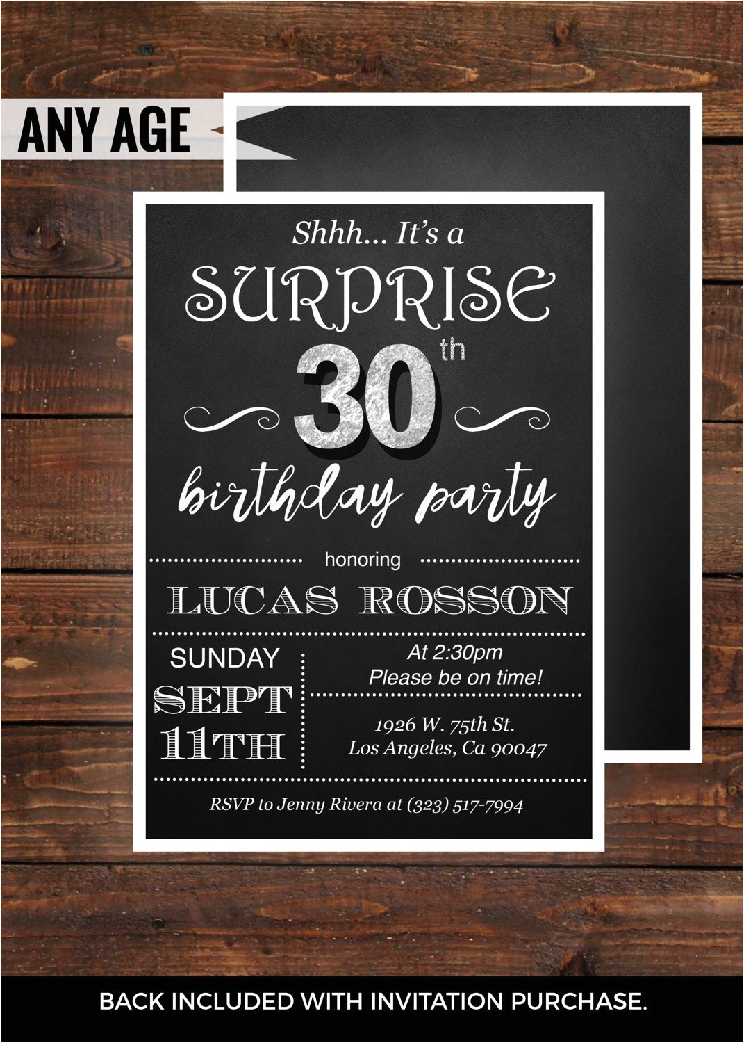 30th Birthday Party Invitations for Him Surprise 30th Birthday Invitations for Him by