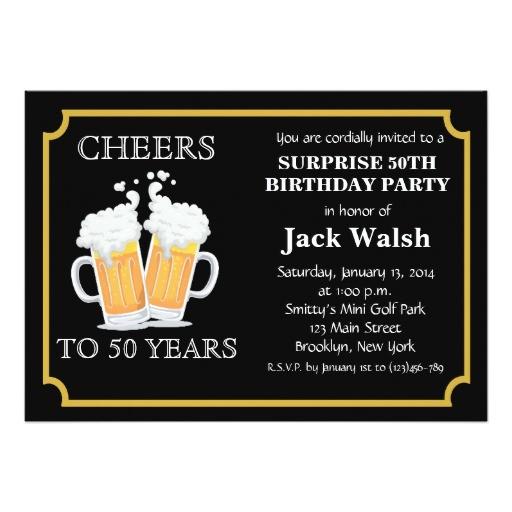 50th Anniversary Surprise Party Invitations Cheers Surprise 50th Birthday Party Invitations Zazzle