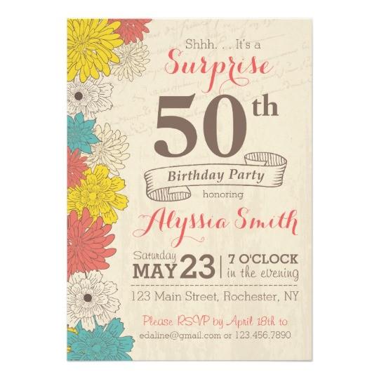 50th Anniversary Surprise Party Invitations Surprise 50th Birthday Invitation Zazzle Com