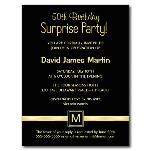 50th Anniversary Surprise Party Invitations Surprise 50th Birthday Party Invitations Wording Free