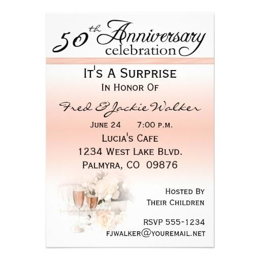 50th Anniversary Surprise Party Invitations Wedding Invitation Wording Surprise 25th Wedding