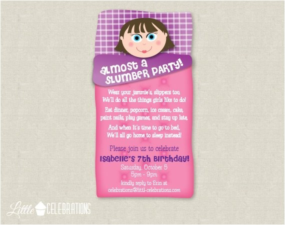 Almost Sleepover Party Invitations Printable Almost A Slumber Party for Boys by