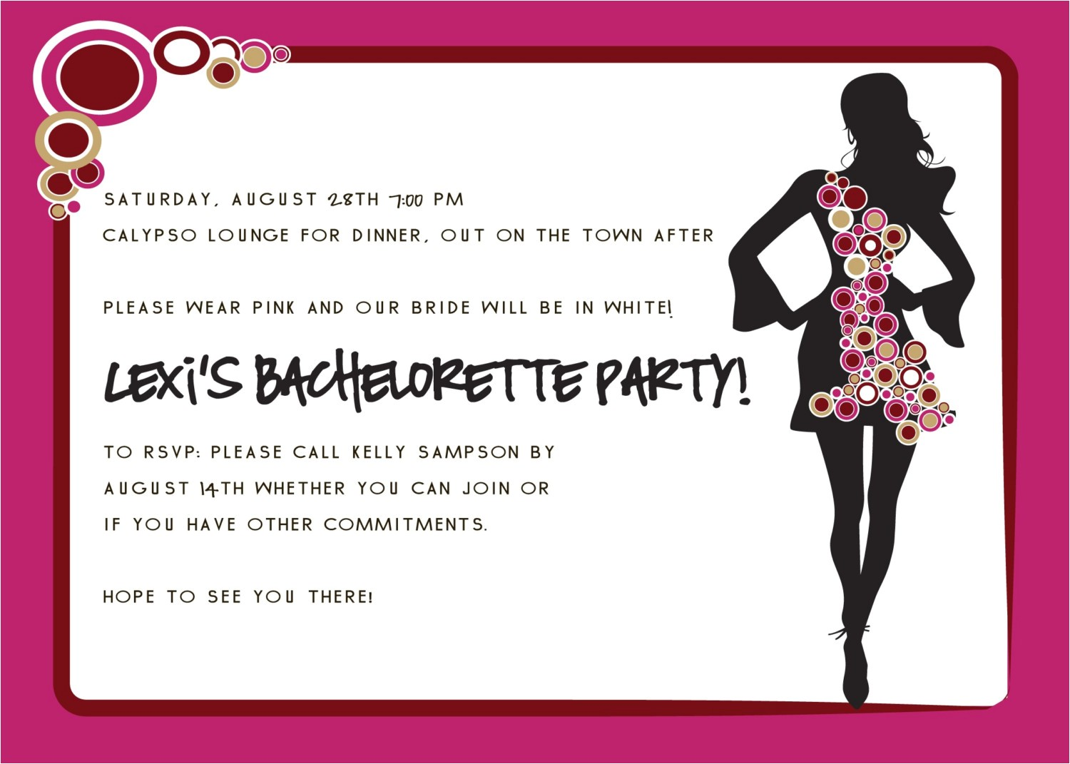 Examples Of Bachelorette Party Invitation Wording Party Invitations Bachelorette Party Invitation Wording