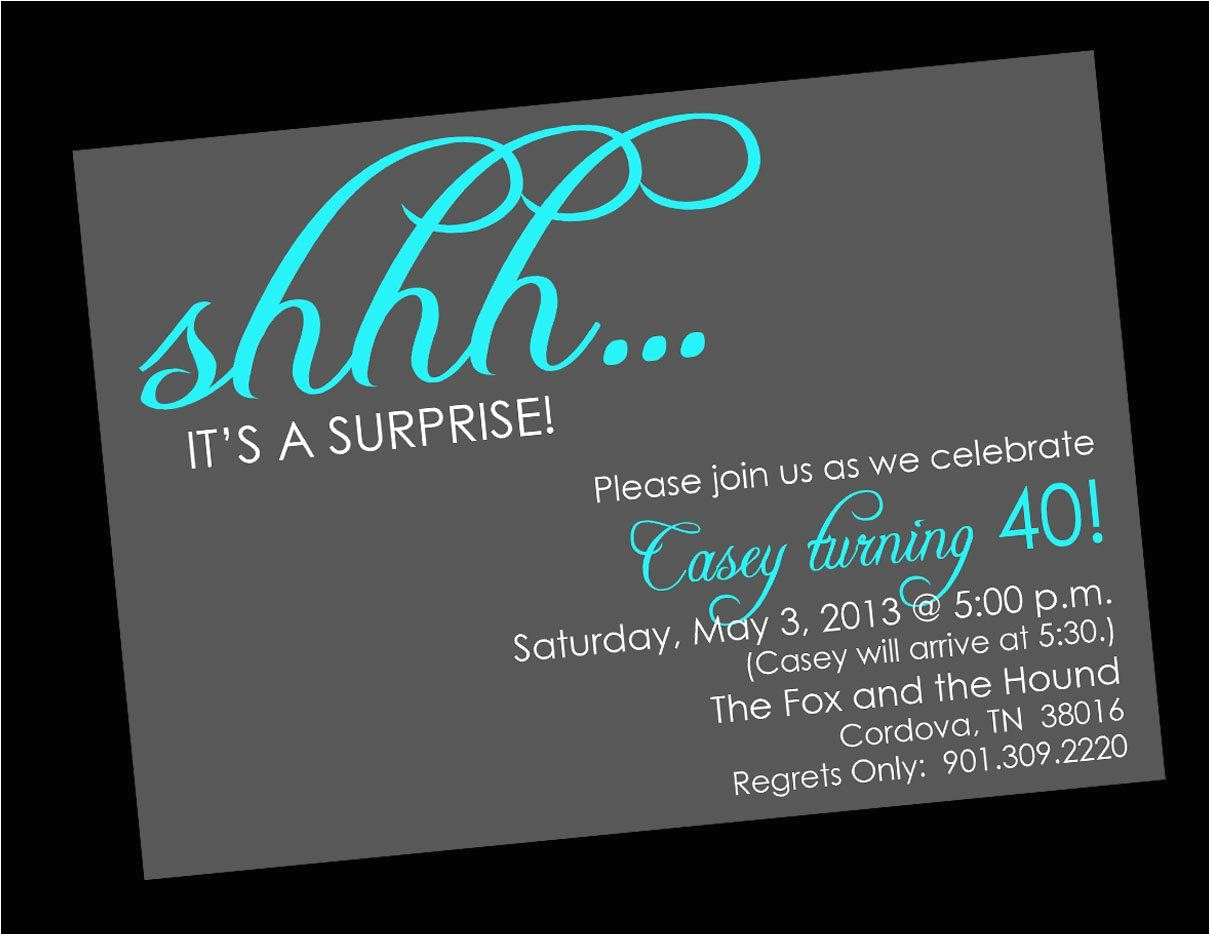 Free Surprise Birthday Party Invitations Birthday Party Surprise Birthday Invitations Card