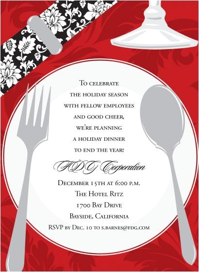 Invitation Wording for Christmas Dinner Party Christmas Dinner Invitation Wording Cimvitation