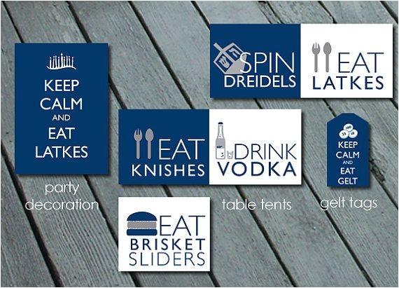 Latke Party Invitation Latke Vodka Hanukkah Party Pack Printable Digital by