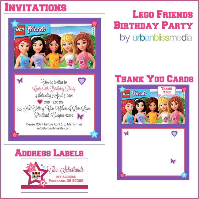 Lego Friends Party Invitations Lego Birthday Quotes Quotesgram