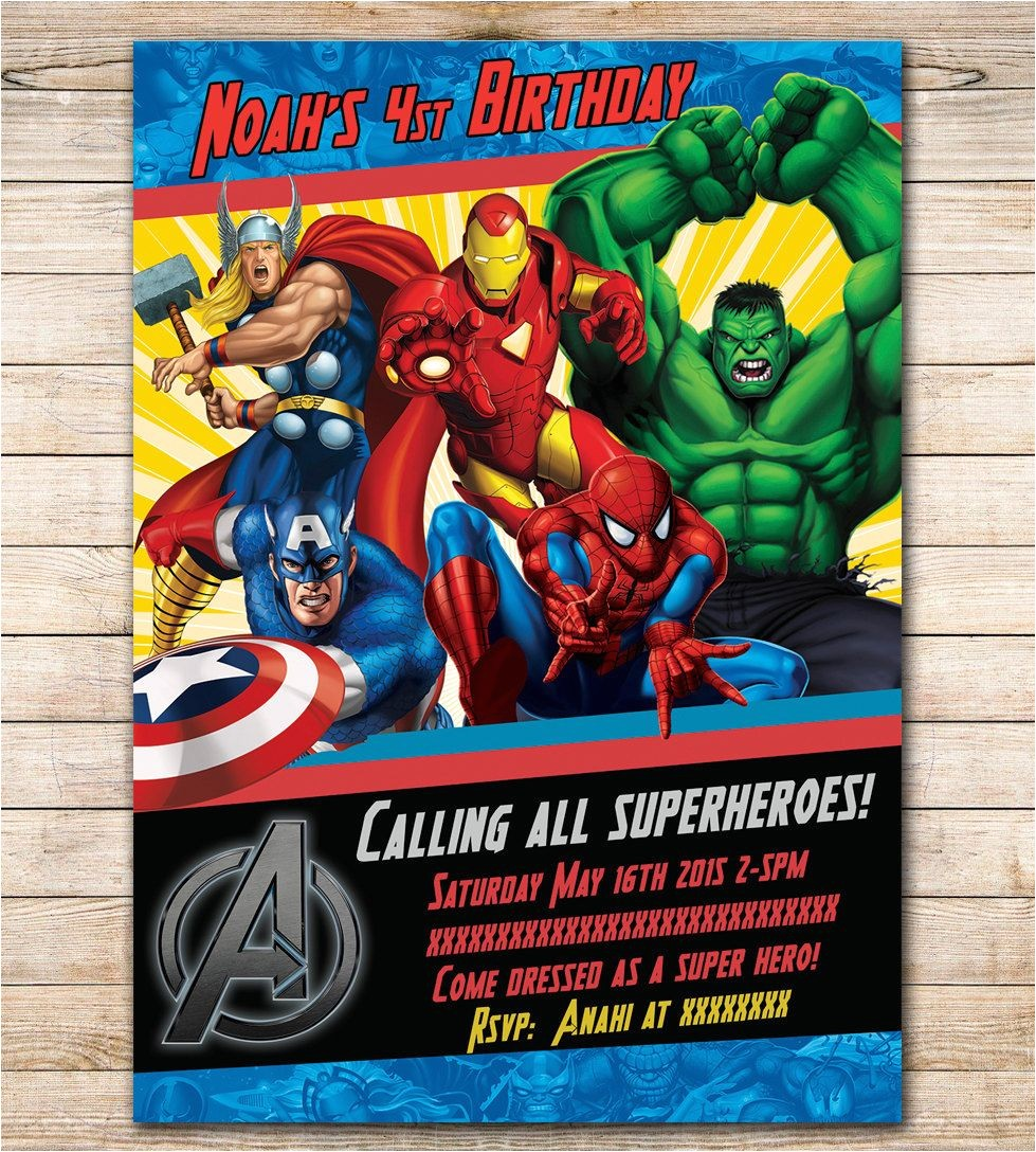 Marvel Party Invitation Template Free Avengers Birthday Invitation Google Search Visit to