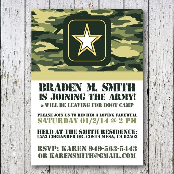 Military Going Away Party Invitation Templates Military Going Away Party Invitations