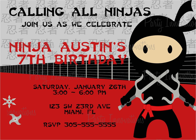 Ninja Birthday Party Invitation Template Free Printable Ninjago Birthday Invitation Free
