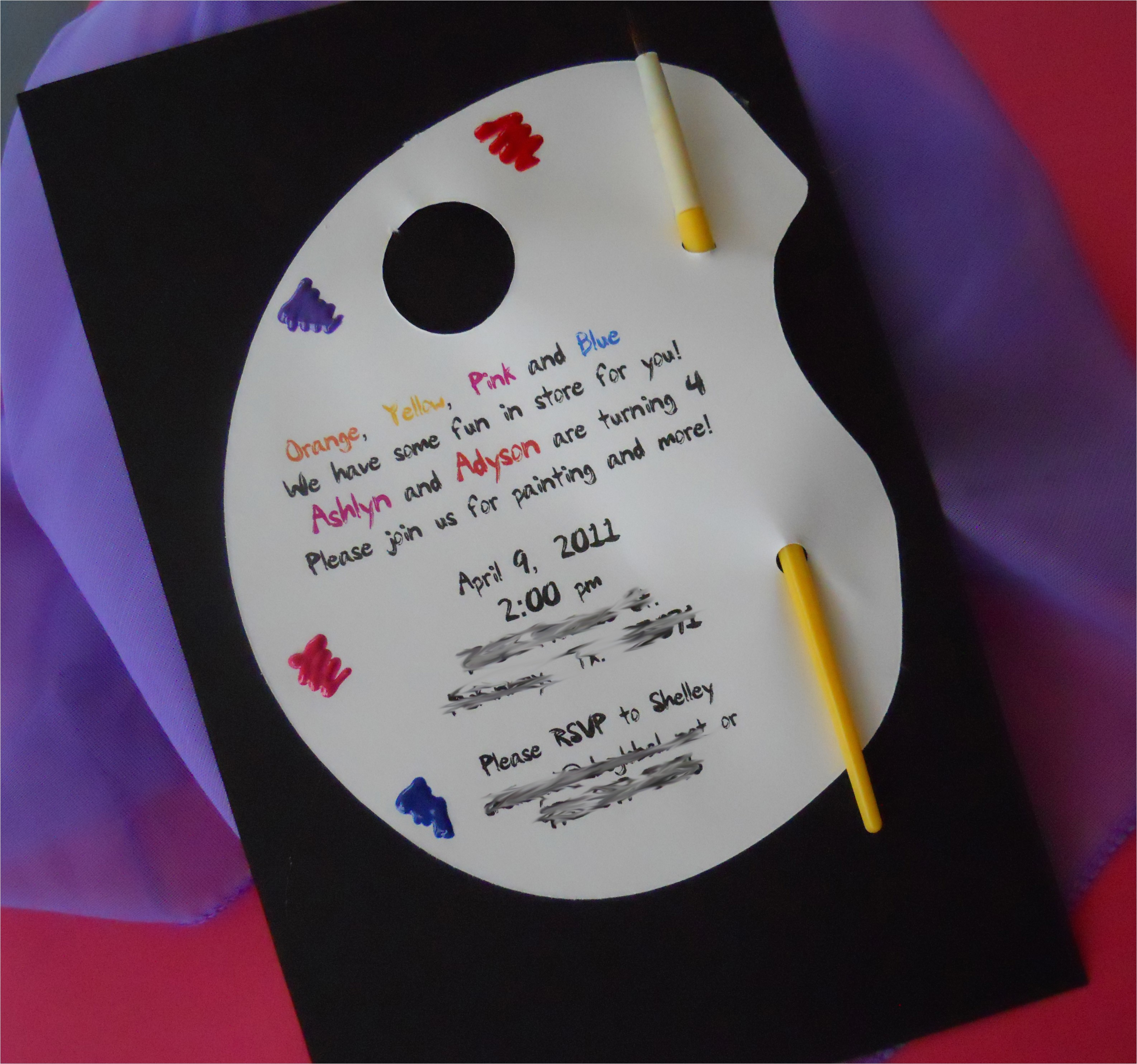 Paint Party Invitation Ideas Painting Birthday Party
