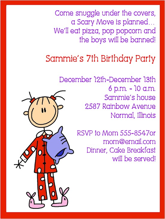 Pajama Party Invitation Wording for Adults Adult Pajama Party Invitations Flower Sex toy