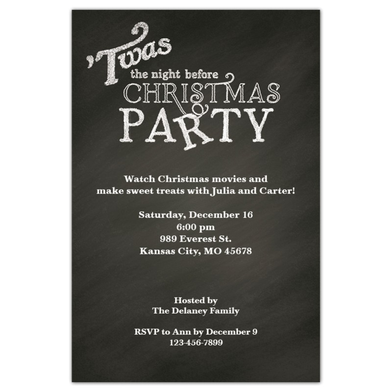 Twas the Night before Christmas Party Invitation Twas the Night Expressionery