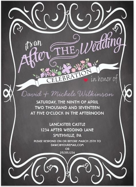 Wedding Party Invitations after Getting Married after Wedding Party Invitation Wording Cobypic Com