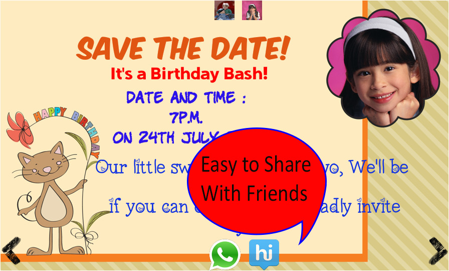 Birthday Invitation Template App Birthday Invitation with Photo android Apps On Google Play