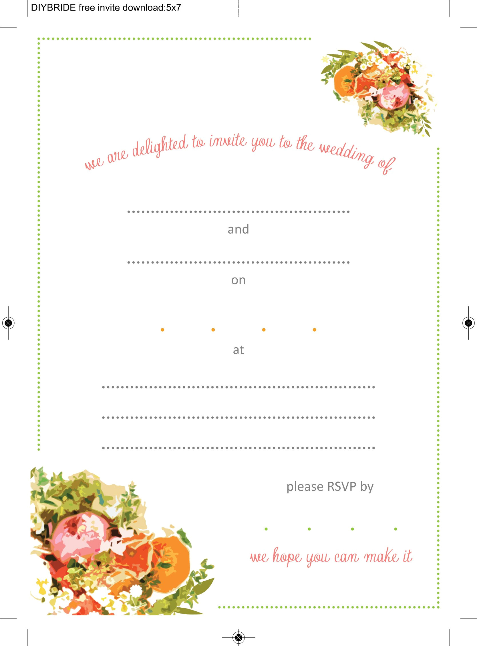 Blank Wedding Invitation Card Design Template Free Download Wedding Invitation Templates that are Cute and Easy to