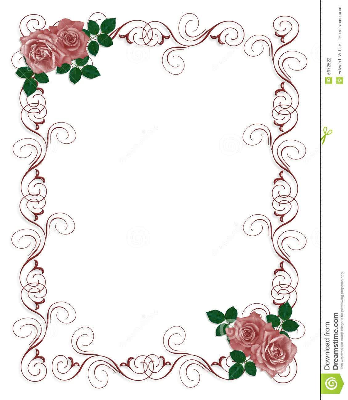 Blank Wedding Invitation Template Floral Blank Wedding Invitation Templates Wedding and Bridal