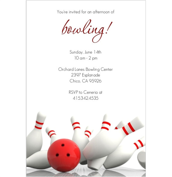 Bowling Party Invitation Template Free 24 Outstanding Bowling Invitation Templates Designs