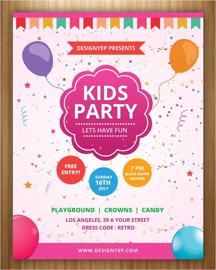 Childrens Party Invitation Template 17 Free Birthday Invitation Templates Psd Designyep