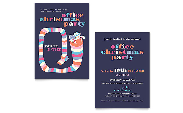 Christmas Party Invitation Template Publisher Christmas Party Invitation Template Word Publisher