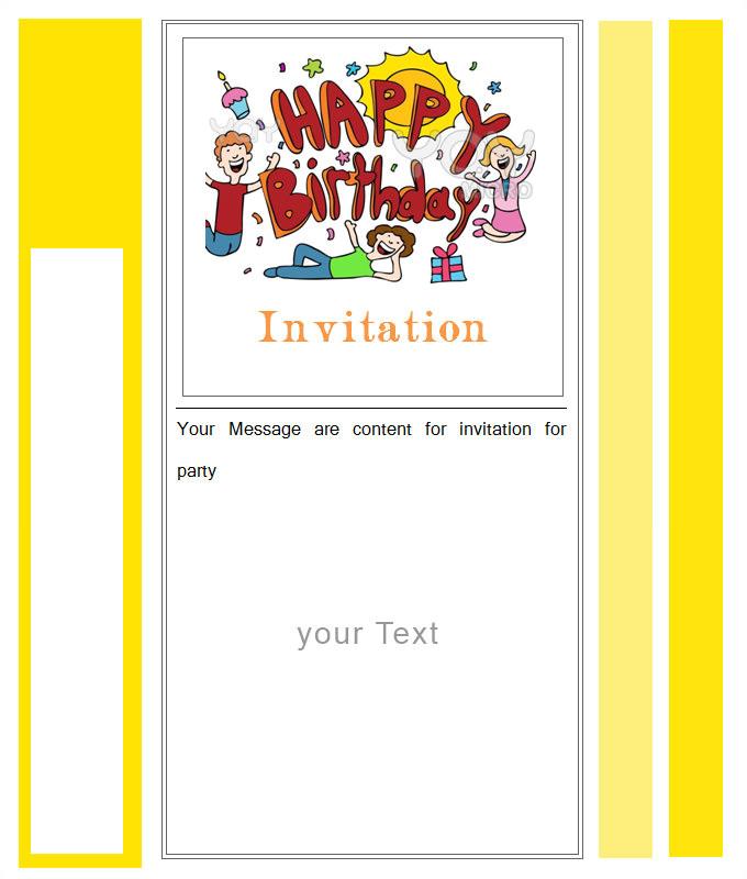Download Birthday Invitation Template 27 Best Blank Invitation Templates Psd Ai Free