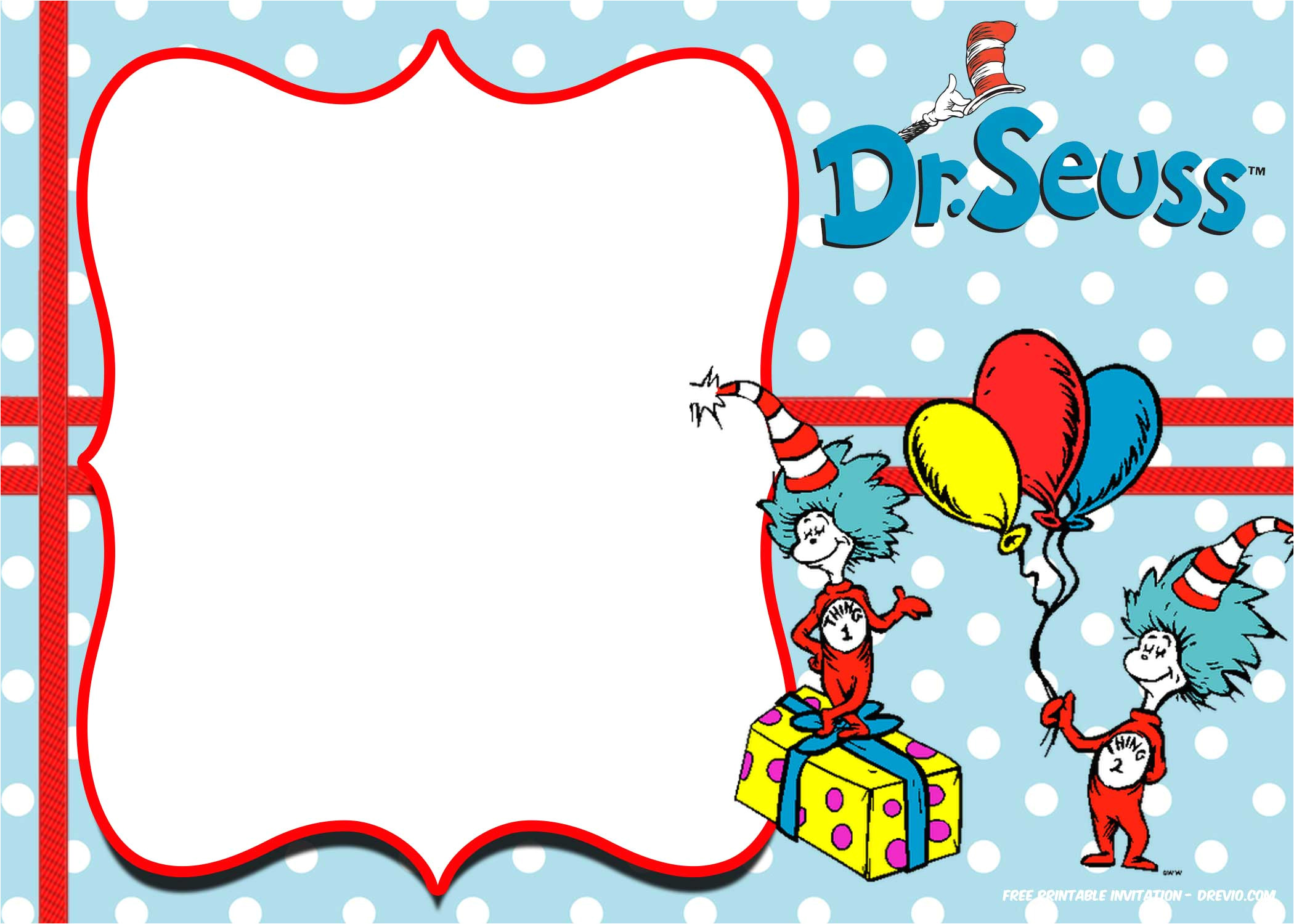 Dr Seuss Birthday Invitation Template Free Dr Seuss Invitation Templates Printable Free