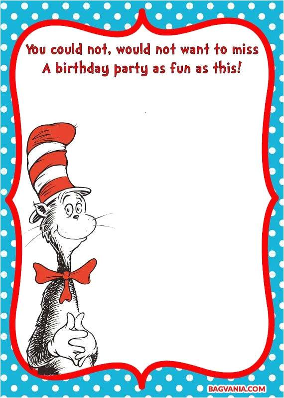 Dr Seuss Birthday Invitation Template Free Printable Dr Seuss Birthday Invitations Free