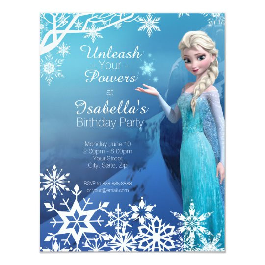 Elsa Party Invitation Template Frozen Elsa Birthday Party Invitation Zazzle Com