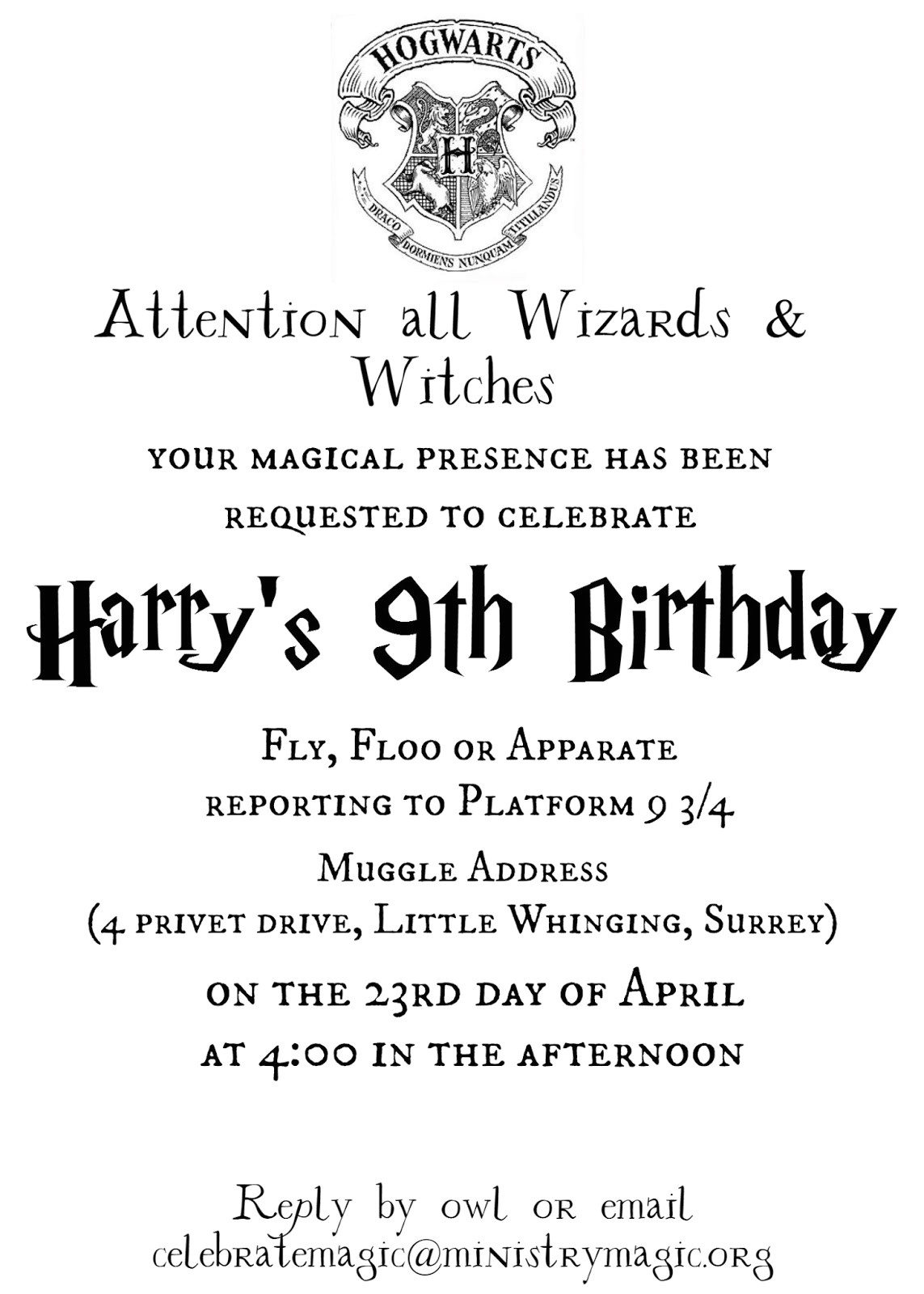 Harry Potter Party Invitation Template Tattered and Inked Harry Potter Party Free Printables and