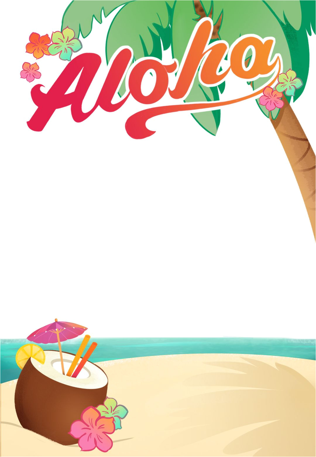 Hawaiian Party Invitation Template Luau Party Free Printable Summer Party Invitation